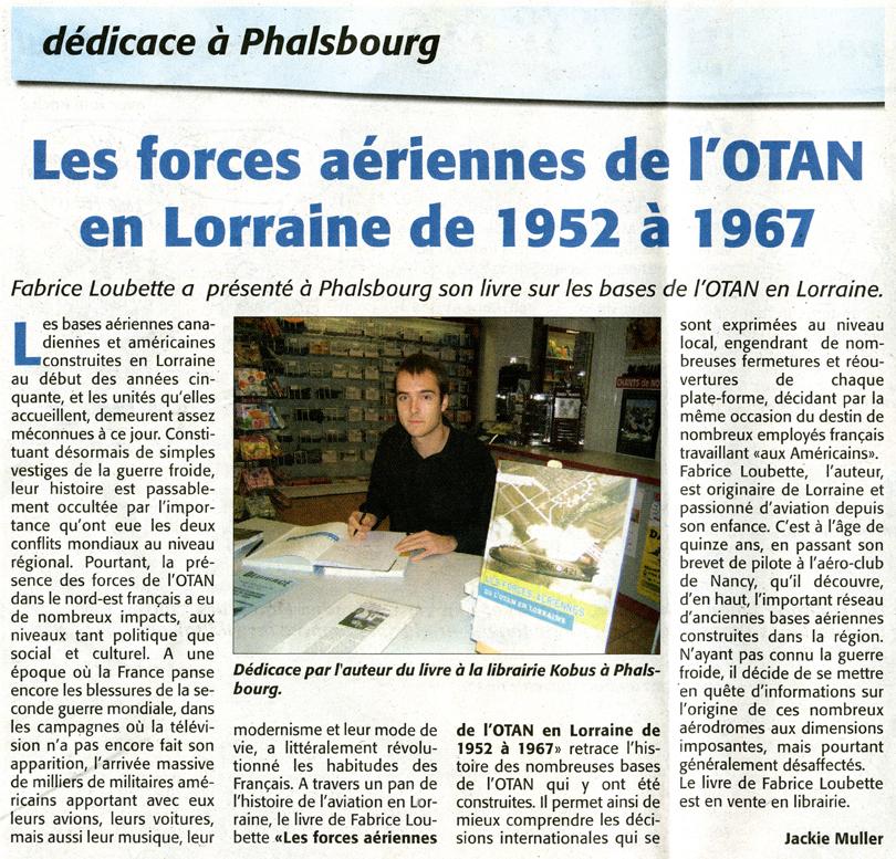 Les forces aériennes de l'OTAN en Lorraine